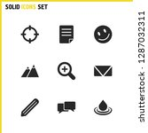 universal icons set with smile...