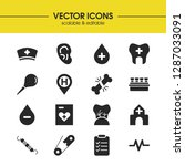 medicine icons set with... | Shutterstock .eps vector #1287033091