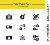 cryptocurrency icons set with... | Shutterstock .eps vector #1287033154