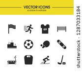 exercise icons set with soccer...