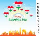 india republic day celebration... | Shutterstock .eps vector #1287035917
