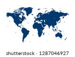 color world map vector | Shutterstock .eps vector #1287046927