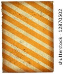 old paper background with stripes and frill edges, all isolated on white background - stock photo