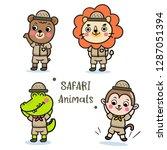 Safari Animals Set  Illustrator ...