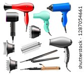 hair dryer vector fashion... | Shutterstock .eps vector #1287054661