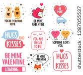 happy valentine's day concept....   Shutterstock .eps vector #1287055537