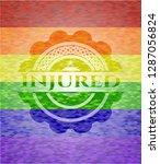 injured lgbt colors emblem  | Shutterstock .eps vector #1287056824