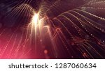 particles form line and surface ...   Shutterstock . vector #1287060634