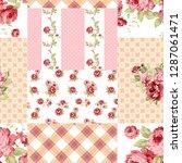 seamless duvet cover... | Shutterstock . vector #1287061471