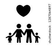 family icon vector illustration ... | Shutterstock .eps vector #1287064897