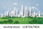 city panorama skyline with... | Shutterstock .eps vector #1287067804