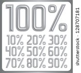 vector metal font percents... | Shutterstock .eps vector #128707181