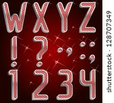 vector platinum ruby font abc...   Shutterstock .eps vector #128707349