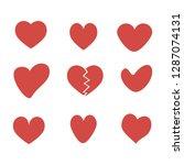 silhouette heart. love icons.... | Shutterstock .eps vector #1287074131