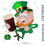 happy st. patrick's day... | Shutterstock .eps vector #128708369