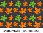 leaf horse chestnut pattern... | Shutterstock .eps vector #1287083851
