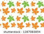 leaf horse chestnut pattern... | Shutterstock .eps vector #1287083854