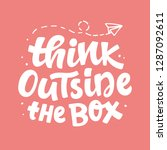 think outside the box concept.... | Shutterstock .eps vector #1287092611