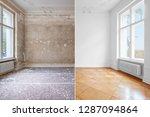 flat renovation  empty room... | Shutterstock . vector #1287094864