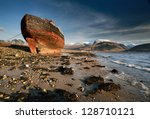 An Abandoned Boat Ruin Beached...