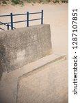 a rustic metal seaside...   Shutterstock . vector #1287107851