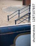 a rustic metal seaside...   Shutterstock . vector #1287107857