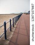 a rustic metal seaside...   Shutterstock . vector #1287107887