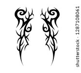 tribal tattoo design template | Shutterstock .eps vector #1287108061