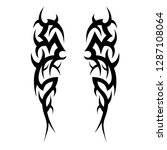 tribal tattoo design template | Shutterstock .eps vector #1287108064