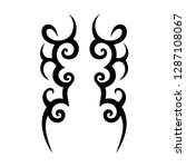 tribal tattoo design template | Shutterstock .eps vector #1287108067