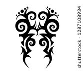tribal element design vector | Shutterstock .eps vector #1287108934