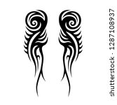 tribal element design vector | Shutterstock .eps vector #1287108937