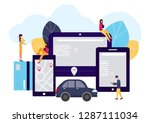 people and auto. making deals... | Shutterstock . vector #1287111034
