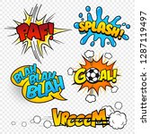 cartoon vector comic sound... | Shutterstock .eps vector #1287119497