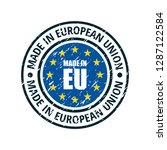 made in european union... | Shutterstock .eps vector #1287122584