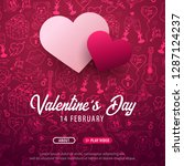 valentines day banner with... | Shutterstock .eps vector #1287124237