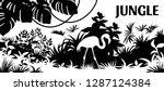 laser cutting background jungle.... | Shutterstock .eps vector #1287124384