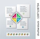 set of infographics elements.... | Shutterstock .eps vector #1287128734