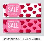 illustration love romance... | Shutterstock .eps vector #1287128881