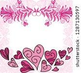 romantic card. vector... | Shutterstock .eps vector #1287130597