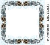 sea frame. vector illustration | Shutterstock .eps vector #1287132667