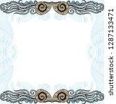beautiful sea frame. vector... | Shutterstock .eps vector #1287133471