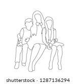 vector  isolated  sketch ... | Shutterstock .eps vector #1287136294