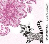cat. vector illustration | Shutterstock .eps vector #1287138634