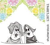 gossips. vector illustration | Shutterstock .eps vector #1287138961
