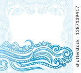 sea background. vector... | Shutterstock .eps vector #1287139417