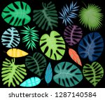 vector collection of bright and ... | Shutterstock .eps vector #1287140584