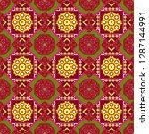seamless pattern from mandalas...   Shutterstock .eps vector #1287144991