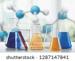 chemical chemistry laboratory... | Shutterstock . vector #1287147841