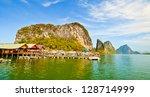 panyi island in the phang nga... | Shutterstock . vector #128714999